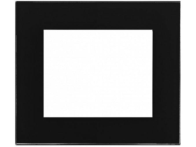 sklo cerny mat