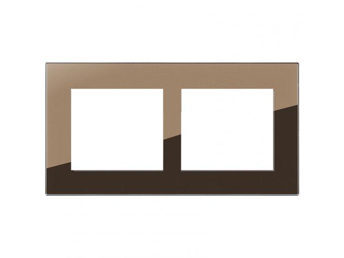 zrcadlo bronz dvojnasobny ram decente