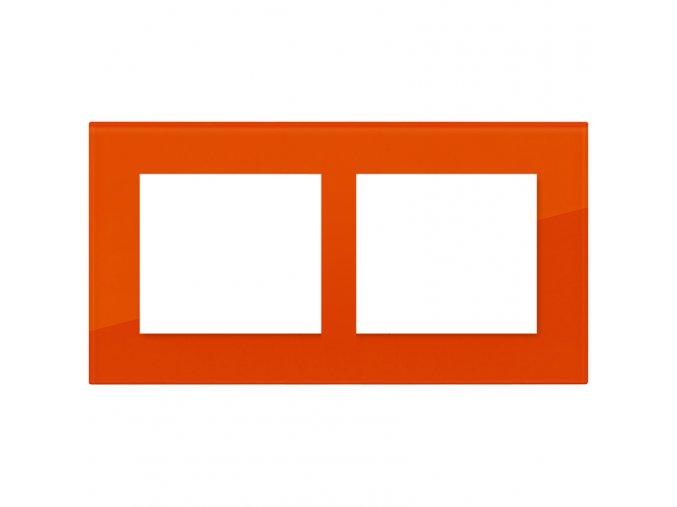 cihlove oranzovy dvojnasobny ram decente