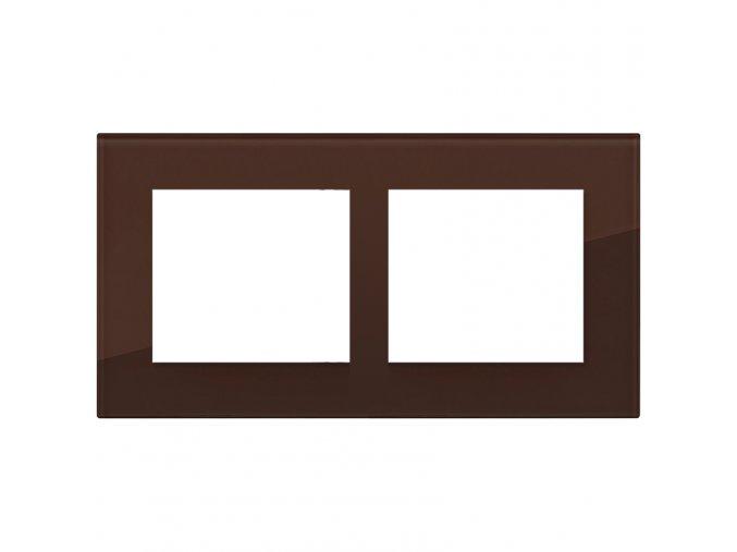 cokoladove hnedy dvojnasobny ram decente