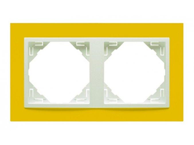 2 - rámček, žltá/ľadová