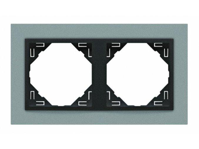 2 - rámček, hliníková/šedá