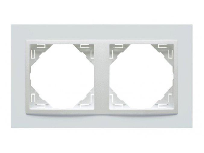 2 - rámček, biela/biela