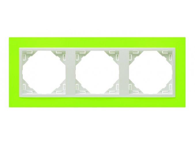 3 - rámček, zelená/ľadová