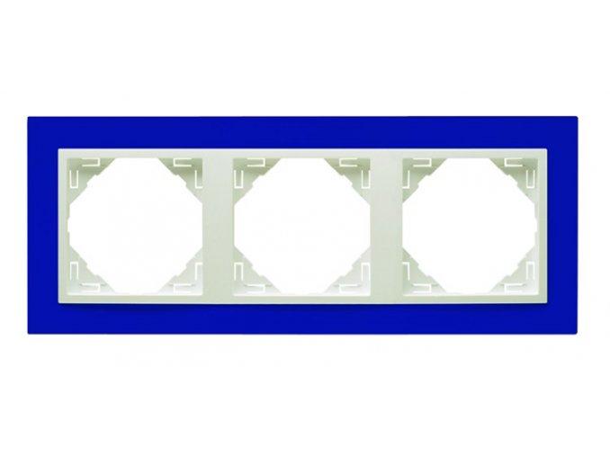 3 - rámček, modrá/ľadová