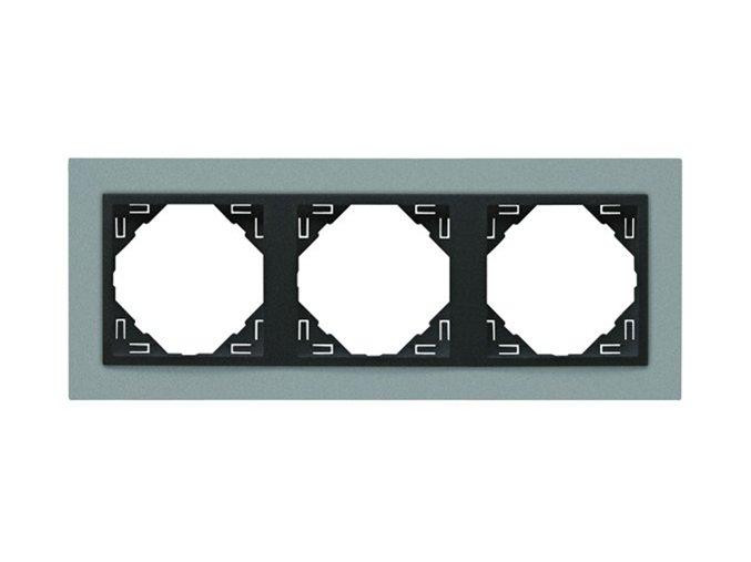 3 - rámček, hliníková/šedá