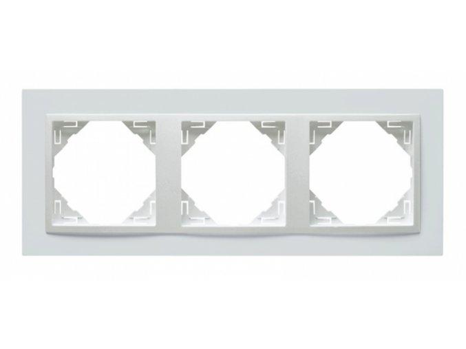 3 - rámček, biela/biela