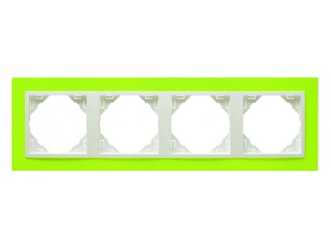 4 - rámček, zelená/ľadová
