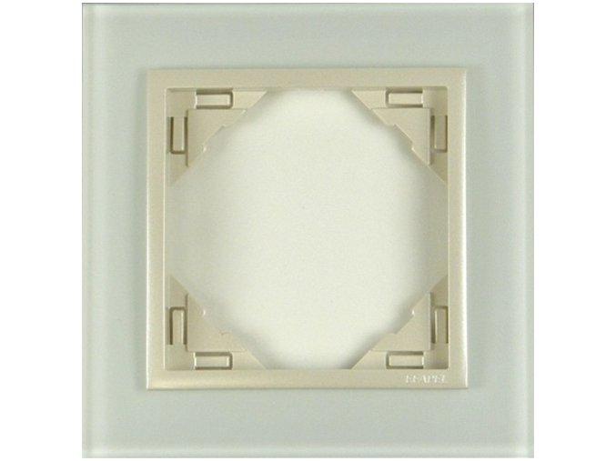 1 - rámček, sklo/perleťová