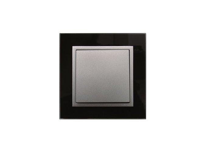 1 - rámček, čierne sklo/hliníková