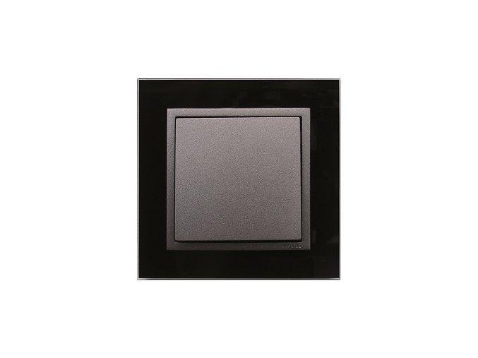 1 - rámček, čierne sklo/šedá