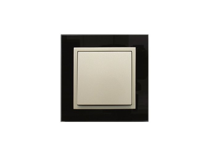 1 - rámček, čierne sklo/perleťová