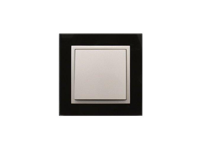 1 - rámček, čierne sklo/ľadová