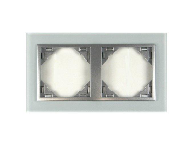 2 - rámček, sklo/hliníková