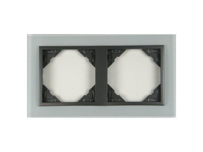 2 - rámček, sklo/šedá