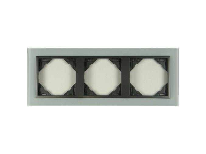 3 - rámček, sklo/šedá