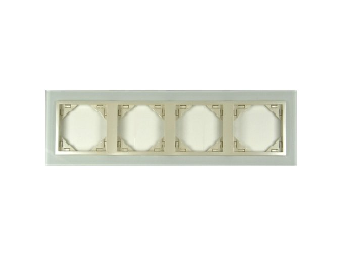 4 - rámček, sklo/perleťová