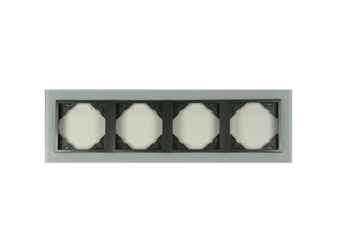 4 - rámček, sklo/šedá