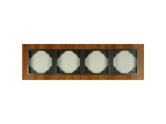 4 - rámček, mahagón/šedá