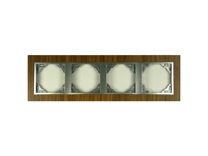 4 - rámček, orech/hliníková