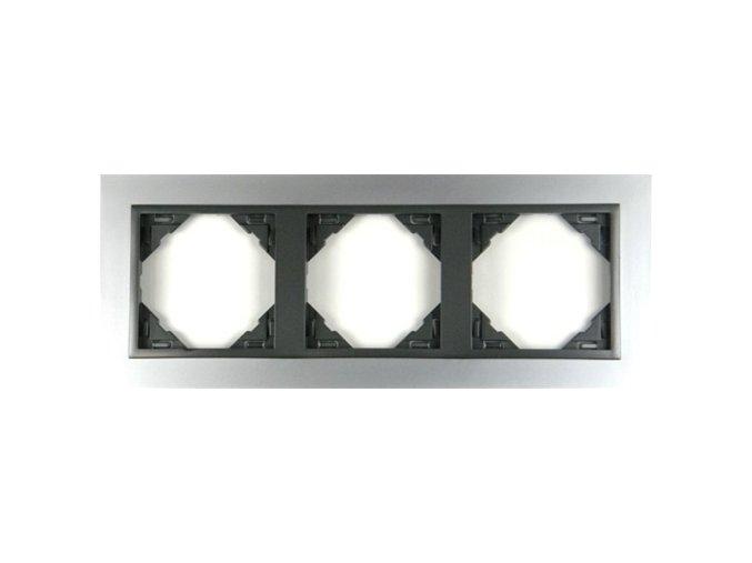 3 - rámček, hliník/šedá