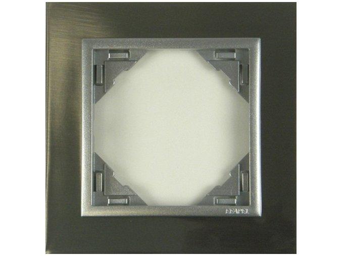 1 - rámček, inox/hliníková