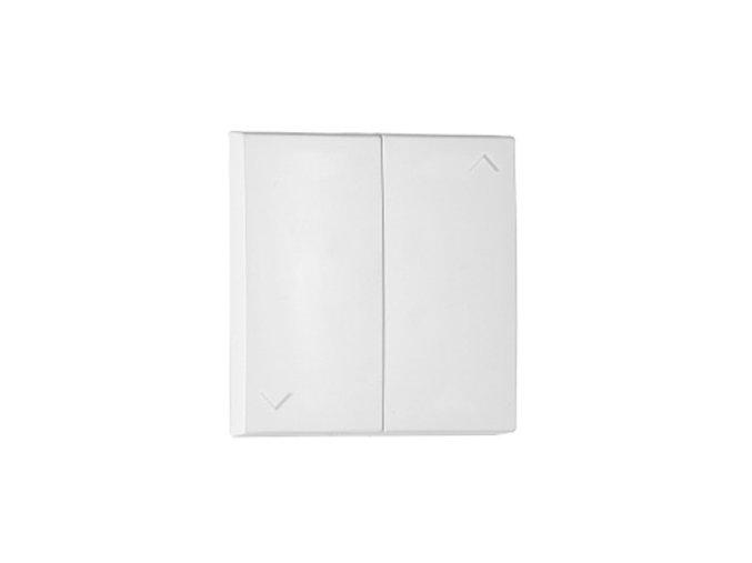 Kryt na 2-tlačidlo žalúziové - biela