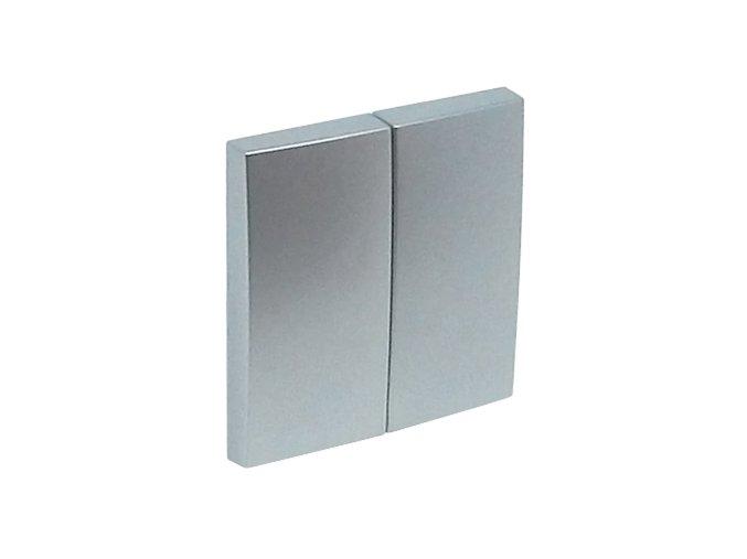 Kryt na 2-tlačidlo univerzálne - hliníková