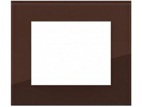 sklo cokoladove hnedy