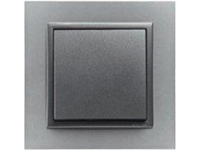 1 - rámček, hliníková/šedá