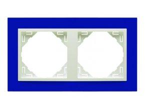 2 - rámček, modrá/ľadová