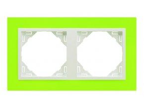 2 - rámček, zelená/ľadová