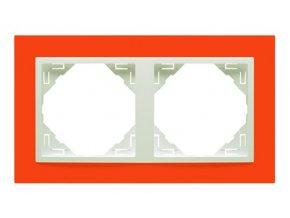 2 - rámček, oranžová/ľadová