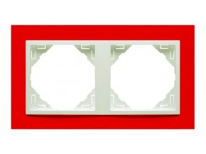 2 - rámček, červená/ľadová
