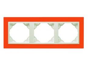 3 - rámček, oranžová/ľadová