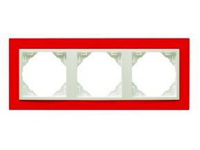 3 - rámček, červená/ľadová