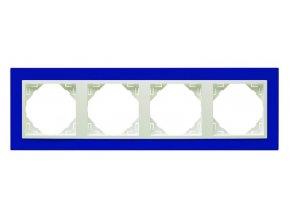 4 - rámček, modrá/ľadová