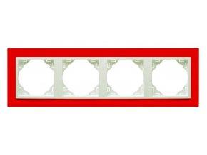 4 - rámček, červená/ľadová