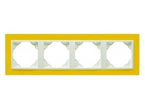 4 - rámček, žltá/ľadová