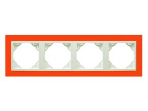 4 - rámček, oranžová/ľadová