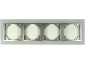 4 - rámček, sklo/hliníková