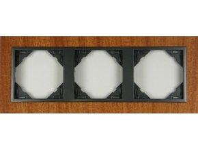 3 - rámček, mahagón/šedá