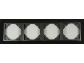 4 - rámček, nikel/šedá