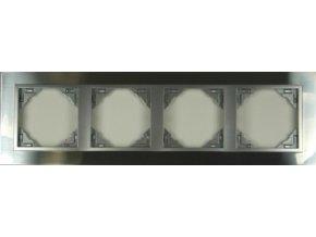 4 - rámček, inox/hliníková