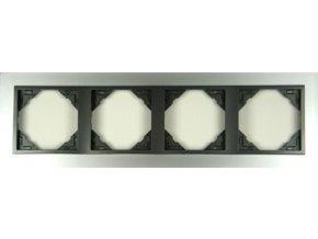 4 - rámček, hliník/šedá