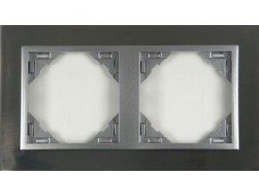 2 - rámček, inox/hliníková