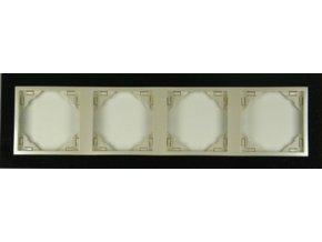 4 - rámček, žula/perleťová